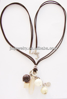 Brown color for shingeki no kyojin necklace leather jewelry