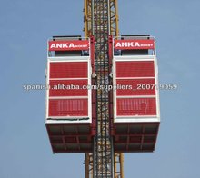 la construcción de ascensores