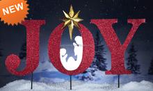 Alegría inspirada Stake para la decoración navideño