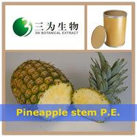 Fresh fruit Pineapple stem P.E. (Bromelain) From 3W Manufacturer