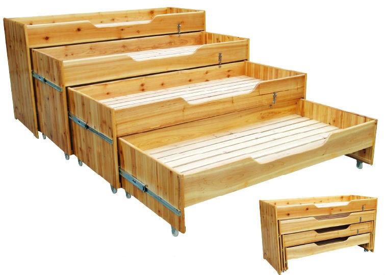 Naturholz 4-schicht kinderbett/Kinder schlafzimmermöbel aus holz ...