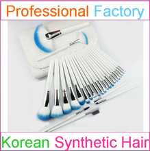 Professional White Makeup Brush Set Wholesale 29pcs with Custom Logo and Small Order Acceptable