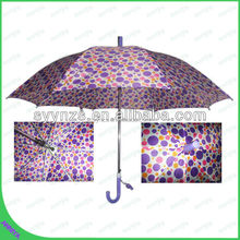 Fancy dot design umbrella auto open straight umbrella rain umbrella for sale