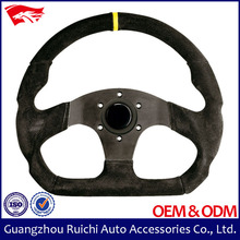 High Quality Universal 330mm Suede Flat Dish Formula 1 Steering Wheel