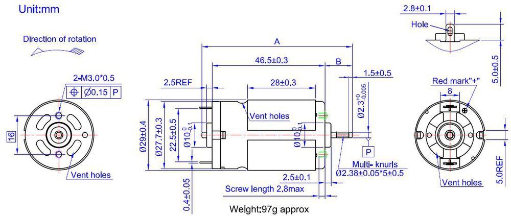 Vacuum Cleaner Motor Rs 390h 110v Dc Motor 220v Dc Motor