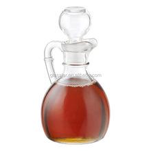6oz Glass cruet with stopper classic design glass vinegar bottle