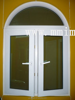 UPVC window PVC 60mm series swing window with curved arch