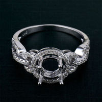 High quality 1.1ct diamond ring semi mount 14k gold for wholesale
