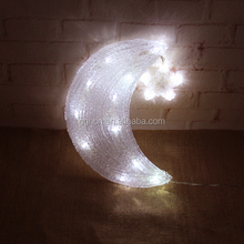 Outdoor attractive moon star 3D acrylic led light holiday acrylic led holiday light