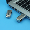 Memorising metal USB flash drive with keychain swivel USB pen drives bulk
