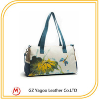 mini canvas wholesale travel flower print tote bag 2014