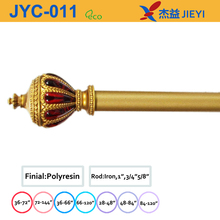 2015 hot sale imitation jewlery crown home decor curtain rods,custom curtain rods china