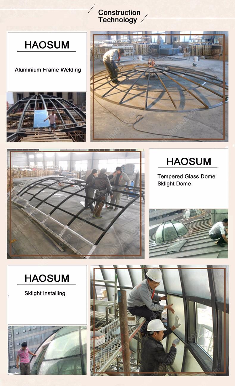 Elegante sterke geprefabriceerde glazen huis aluminium veranda ...