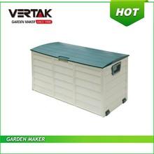 plastic garden tool storage box with lid mould,garden PP accessory storage box,deck cushion patio box
