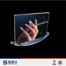 Gold supplier custom magnetic curved acrylic photo frame factory/multi magnetic photo frame
