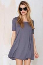 Mujeres Mini vestido corto de la manga del vestido ocasional mujeres
