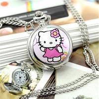 Popular Hello Kitty Cartoon Case Pocket Watch