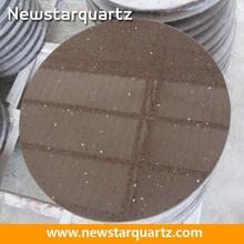 Brown quartz round kitchen table top