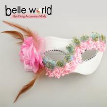 Wholesale Christmas Feather half face masquerade masks