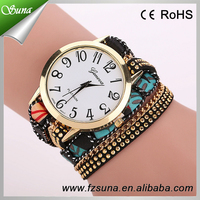 Newest Geneva Long Strap Leather Charm Watch Wrist With Long Strap