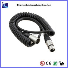 4p XLR male to 4p XLR female coiled cable