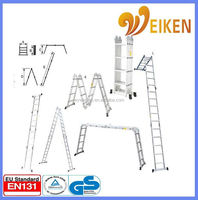 WK-104 with platform four parts foldaway ladder