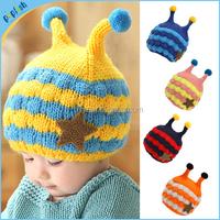 2015 Winter New Styles Children Sweater Hat Boys and Girls Cartoon Pattern Baby Crochet Cap MZ21023