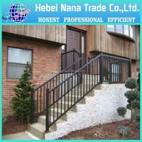 Wholesale & low price galvanized black powder painted panel used steel aluminum fence