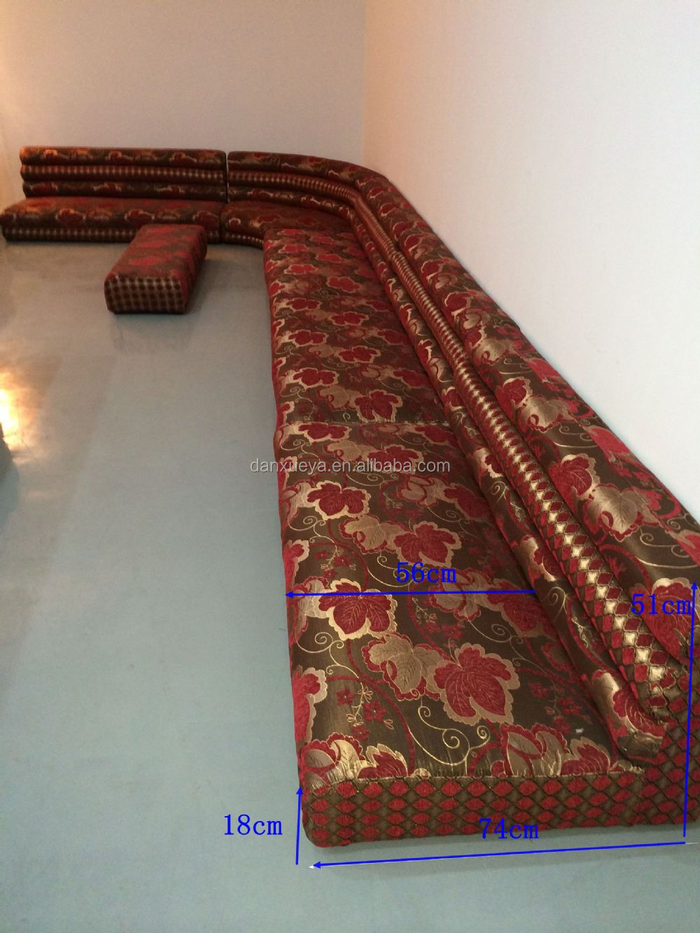 Fabric Moroccan Indian Floor Sofa For Sale,Fabric L-shape ...