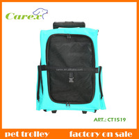Two Wheels Convenient Fold And Carry Cat and Folding Dog Trolley Pet Travel Bag