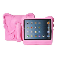 Cartoon Elephant Kids Children Safe Shockproof Soft EVA Silicon Durable Foam Stand Protective Cover Case For Ipad mini 1/2/3