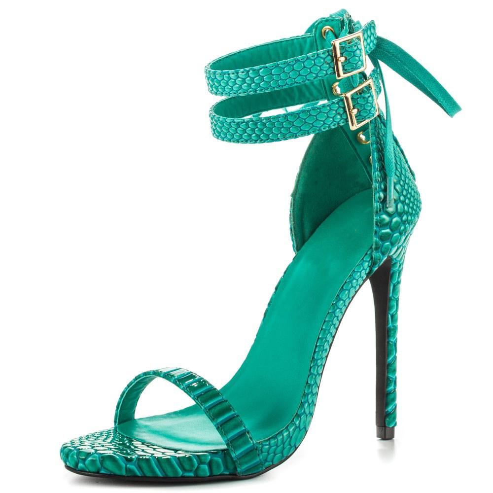 green high heel shoe green eveing shoes italian evening