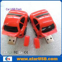 Red race mini car usb oem car shape pen drive car usb stick