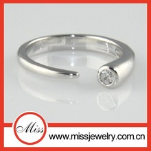 plain white gold platinum filled sterling silver simple ring designs