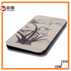 Flower design made in china leather phone case for blackberry z3