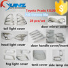 for TOYOTA PRADO FJ120 full chromed kits with door mirror cover protect and decoration cars accessories Assurance supplier