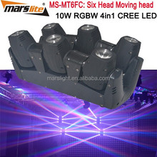 DMX 10W RGBW 4in1 moving head led/ spider led beam moving head light/ spider led moving head