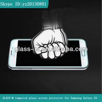 Hot blue film,anti-broken tempered glass film,japanese blue film 9H hardness for Samsung Galaxy S5