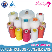 100pct raw white spun polyester yarn