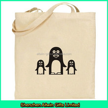 100% Natural cotton canvas tote bag with custom logo