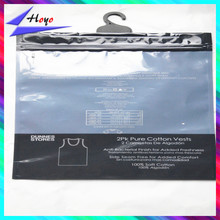 hot sale resealable plastic with hook bags for clothing