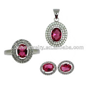 [Hot Sale] indian pink world imitation jewelry set