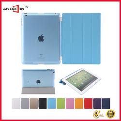 Magnetic Slim PU Leather dustproof case for iPad 2 3 4 Wake & Sleep Ultra-thin Multiple Shape