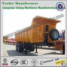 hydraulic dump semi trailer with good quality/dumper trailer/tipper trailer