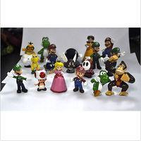 DIHAO Wholesale Anime game Super Mario Bros Action Figure 18pcs