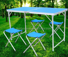 Foldable Aluminum camping table outdoor camping table chairs set