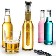 2 Pack Stainless Steel Beer and Beverage Chiller Sticks with Removable Tops By Gia-Mia's.