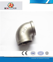 304 316 304L 316L Stainless Steel Casting Pipe Fittings Female BSP NPT Threaded 45 Degree Elbow