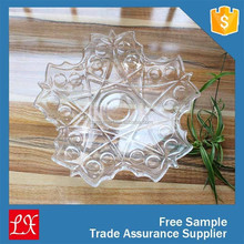 Transparent decorative glass plate wall art