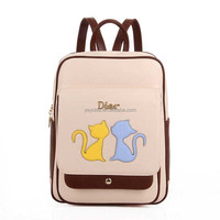 Fashion Bags Women Practical Backpack with Cat Carton Design